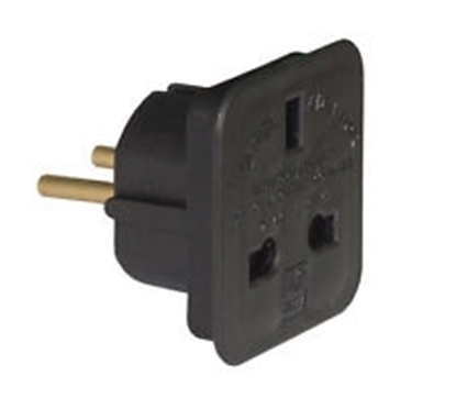 Picture of 13A Power Plug Adaptor UK ro European
