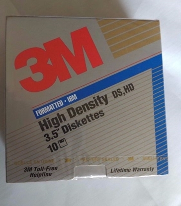 Picture of 3.5High Density 3M Diskettes IBM Format 12881