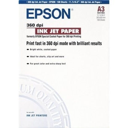 Picture of A3 Epson 360 dpi Paper (100 Sheets)
