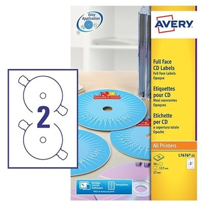 Picture of Avery Full Face CD Label / DVD Label