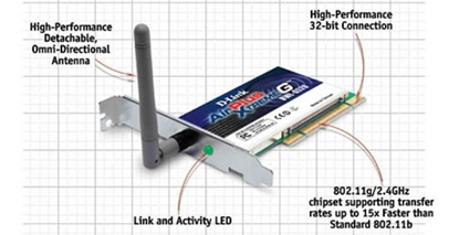 Picture of D-Link Wireless 108G PCI Ethernet