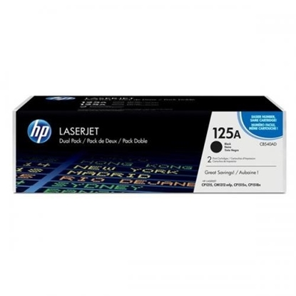 Picture of HP  #125A Dual PAck Black Toner for Color Laser CP1215