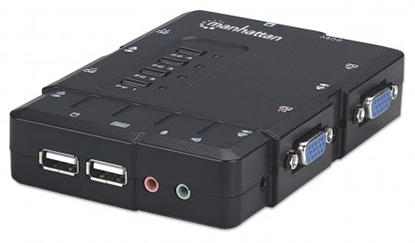 Picture of Manhattan  4-Port KVM  Compact Switch USB