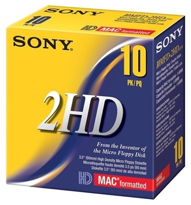 Picture of 3.5 High Density SONY Diskettes Mac