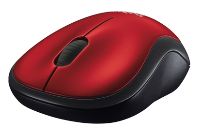 Picture of LOGITECH M185 wireless mouse, red