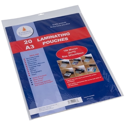 Picture of A3 Laminating Pouch Film covers, 150 Micron