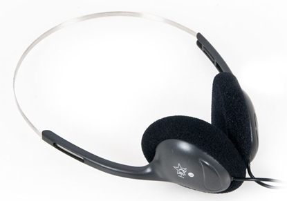 Picture of HQ  Headphones-Headset  On Ear 3.5mm Wired Black