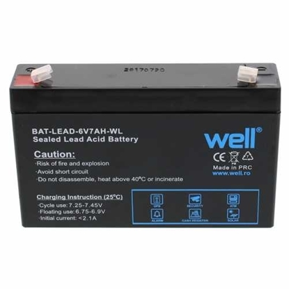 Picture of Battery-Well   Lead Acid 6V7AH